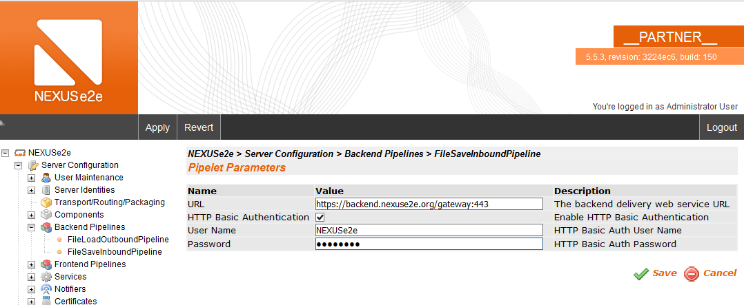 Home - Secure Backend Connection